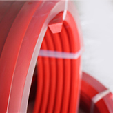 Urethane tranmission red Polyurethane V Belt for driving , wear ...-1.jpg